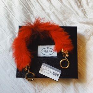 Prada Red 100% Lamb Fur Bag Strap
